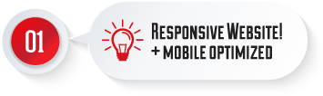 responsive website + mobile optimised