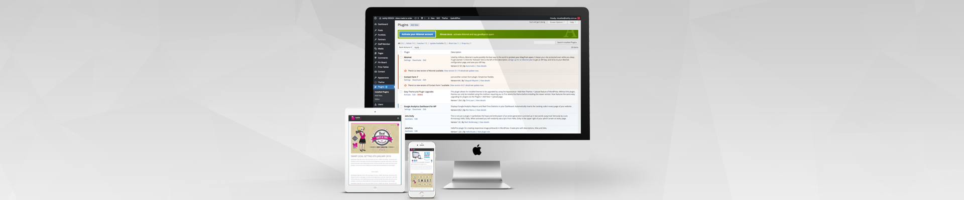 webDesign extras - customise with wordpress plugins