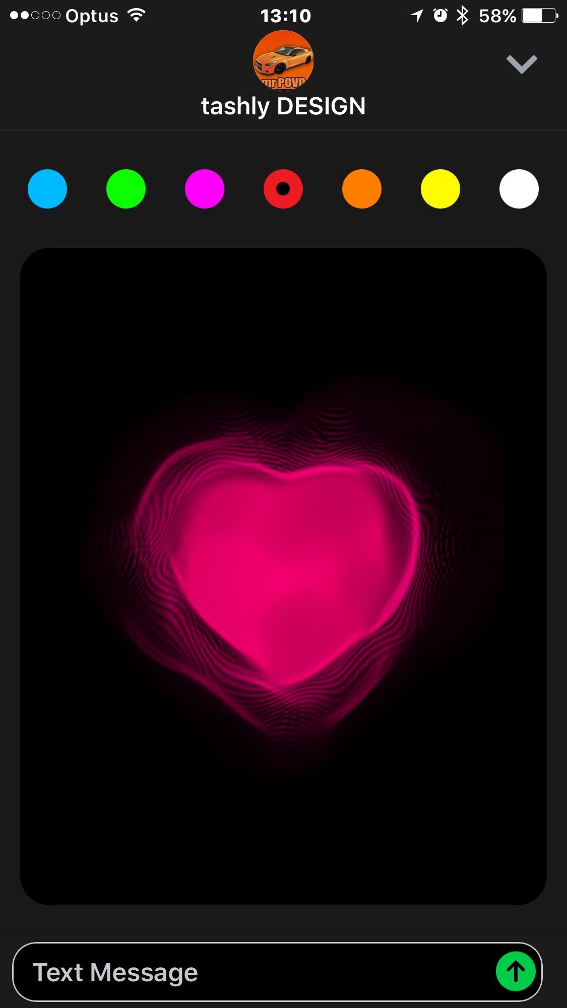 iOS 10 iMessage - Heart Beat