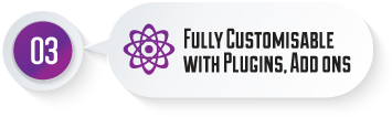 Fully Customisable with Plugins, Add ons